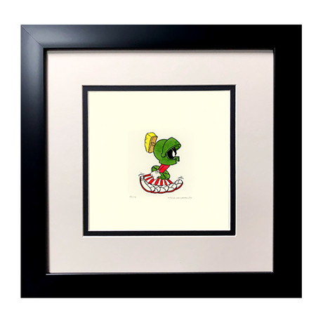 Marvin the Martian // Hand Painted Etching (Unframed)