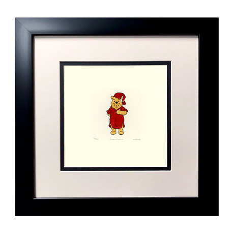 Winnie The Pooh // Hand Painted Etching (Unframed)