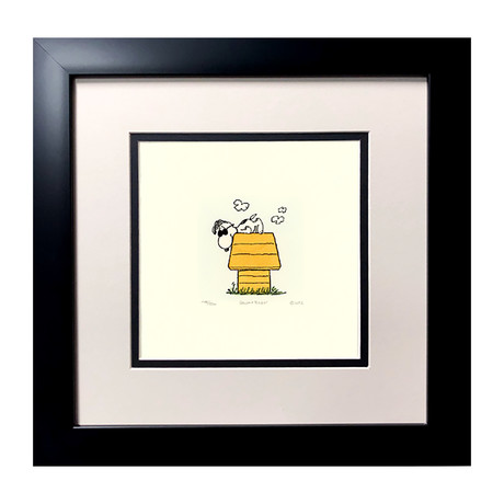 Snoopy // Hand Painted Etching (Unframed)