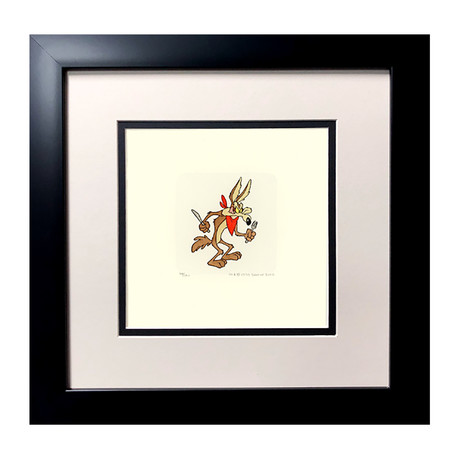 Wile E. Coyote // Hand Painted Etching (Unframed)
