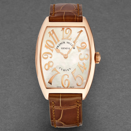 Franck Muller Ladies Curvex Quartz // 2852 QZ RELIEF MOP 5N // New