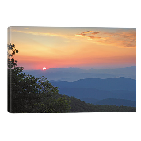 Sunset Over The Pisgah National Forest From The Blue Ridge Parkway, North Carolina I // Tim Fitzharris