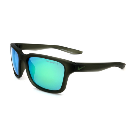 Unisex Essential Spree Sunglasses // Matte Black + Green