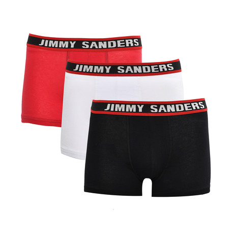 Enric Boxer // Black + White + Red // Pack of 3 (S)