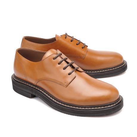 Leather Derby Shoe // Cognac (Euro: 39)