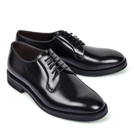 Lace Up Derby Shoe // Black (Euro: 39)