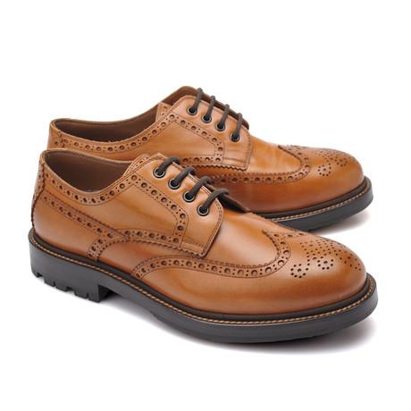 Calfskin Leather Derby Shoe // Brown (Euro: 39)