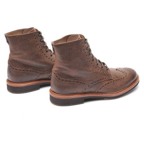 Lace Up Brogue Boots // Brown (Euro: 39)
