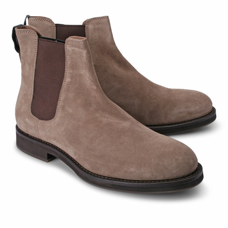 Two-Tone Leather Chelsea Boot // Brown (Euro: 39)