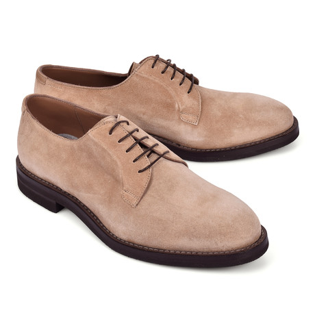Suede Derby Shoe // Beige (Euro: 39)