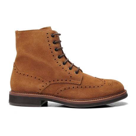 Suede Brogue Boot // Brown (Euro: 39)