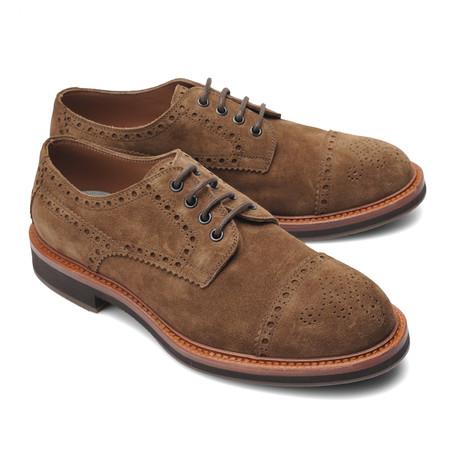 Brogue Style Cap Toe Shoe // Beige (Euro: 39)