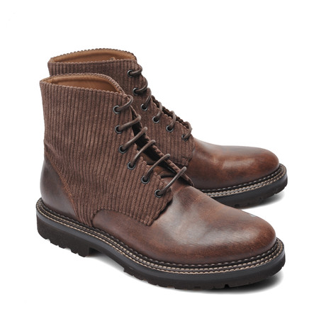 Two-Tone Leather Boot // Brown (Euro: 39)