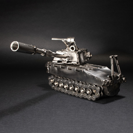 Tank // Steel Scrap Figurine