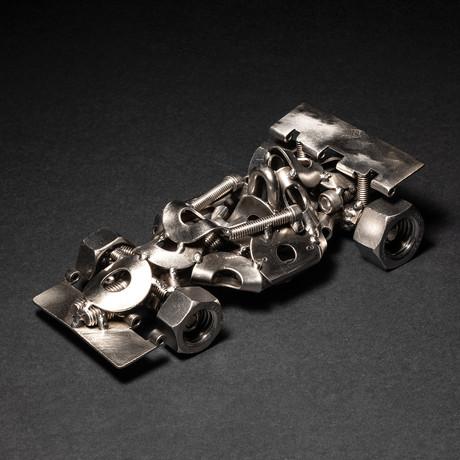 Racecar // Steel Scrap Figurine