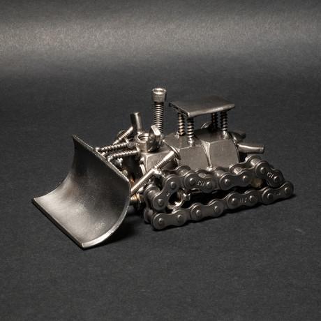 Bulldozer // Steel Scrap Figurine