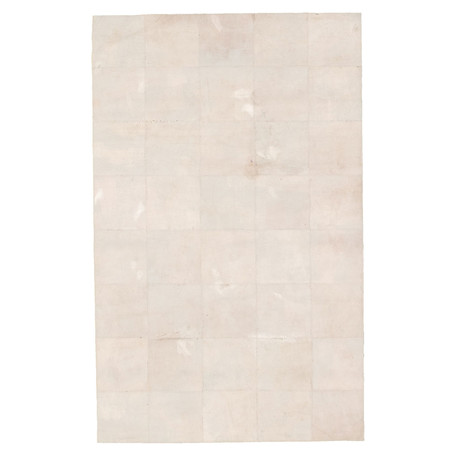 "Cowhide Patchwork // Light Gray // 3'9""W x 5'9""L"