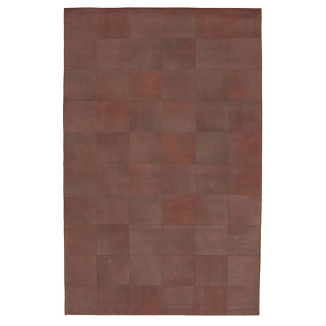 "Cowhide Patchwork // Dark Brown // 5'W x 7'11""L"