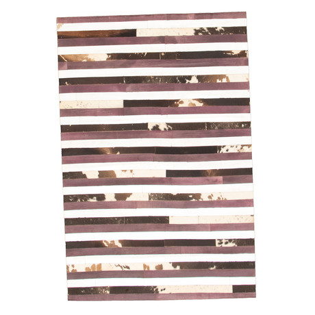 Cowhide Patchwork // Dark Brown // 4'W x 6'L