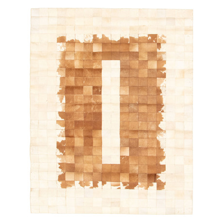 "Cowhide Patchwork // Brown + Ivory // 4'7""W x 6'L"