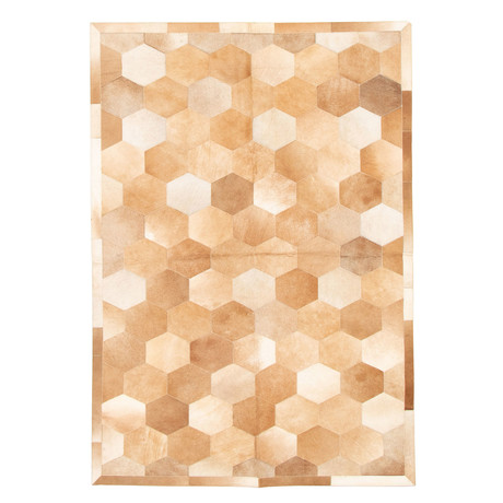 Cowhide Patchwork // Cream // 5'W x 7'L