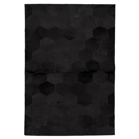 Cowhide Patchwork // Black // 4'W x 6'L