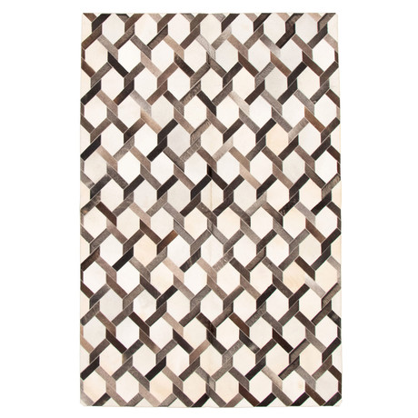 Cowhide Patchwork // Cream // 6'W x 9'L