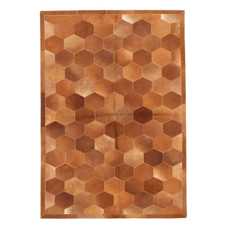 "Cowhide Patchwork // Brown // 5'W x 7'2""L"