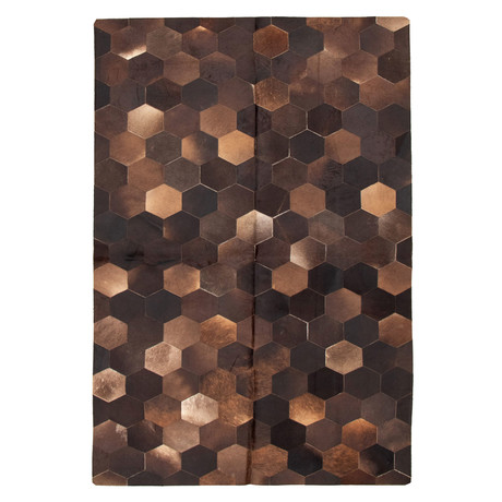 Cowhide Patchwork // Dark Brown // 6'W x 9'L