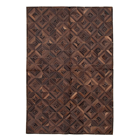 "Cowhide Patchwork // Brown // 6'1""W x 9'1""L"
