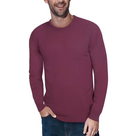 Slim Crew Neck Sweater // Plum (S)