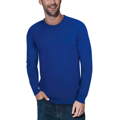 Slim Crew Neck Sweater // Royal Blue (S)