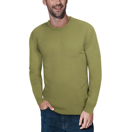 Slim Crew Neck Sweater // Heather Lime (S)