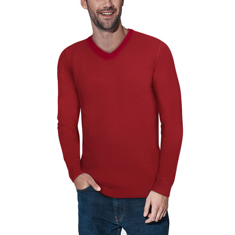 Slim V-Neck Sweater // Jester Red (S)