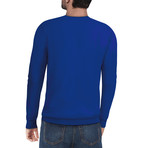 Slim Crew Neck Sweater // Royal Blue (M)