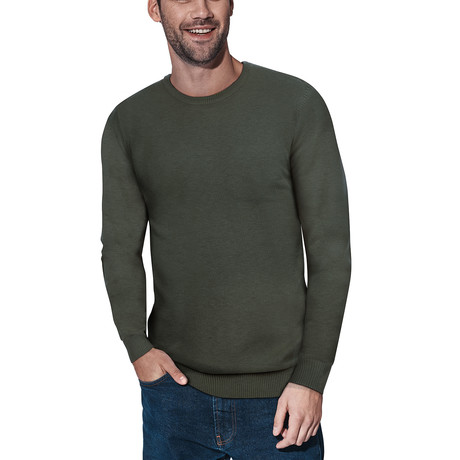 Slim Crew Neck Sweater // Olive (S)