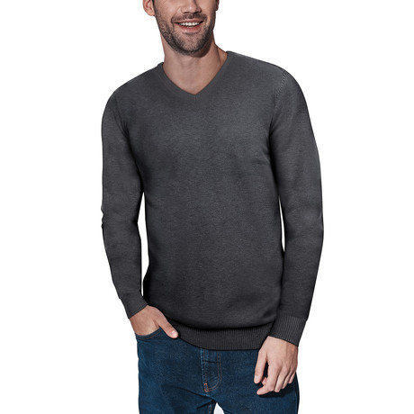 Slim V-Neck Sweater // Heather Charcoal (S)