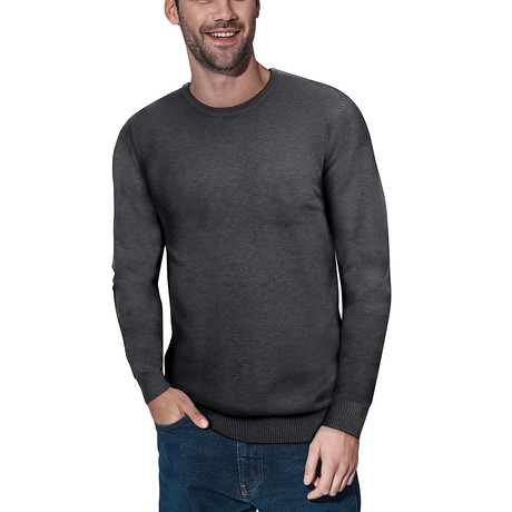 Slim Crew Neck Sweater // Heather Charcoal (S)