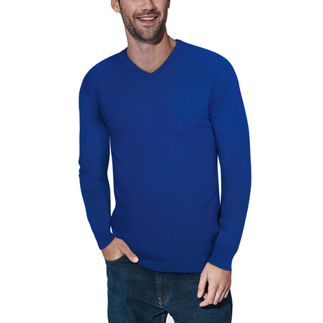 Slim V-Neck Sweater // Royal Blue (S)