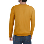 Slim V-Neck Sweater // Mustard (XL)