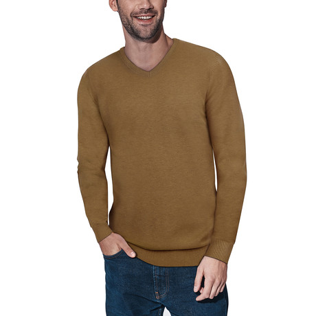 Slim V-Neck Sweater // Copper (S)