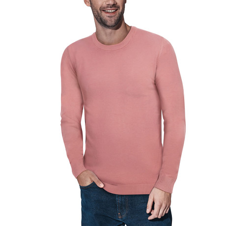 Slim Crew Neck Sweater // Dusty Mauve (S)