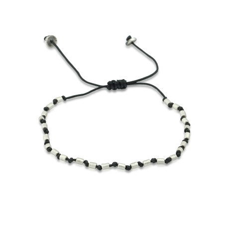 "Adjustable Metal Bead Bracelet (Small: 2.1""- 2.3""Ø)"