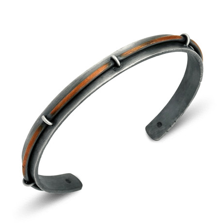 "Raised Copper Cuff Bracelet (Small: (2.1""- 2.3"" Ø))"