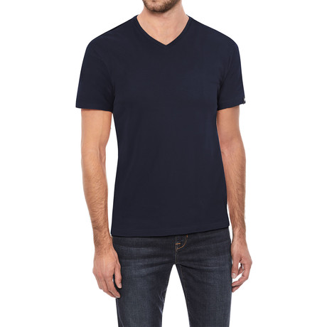 V-Neck T-Shirt // Navy (S)