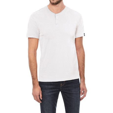 Super Soft Stretch Henley // White (S)