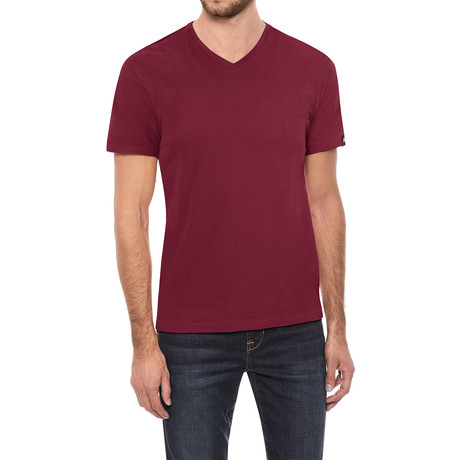 V-Neck T-Shirt // Cranberry (S)