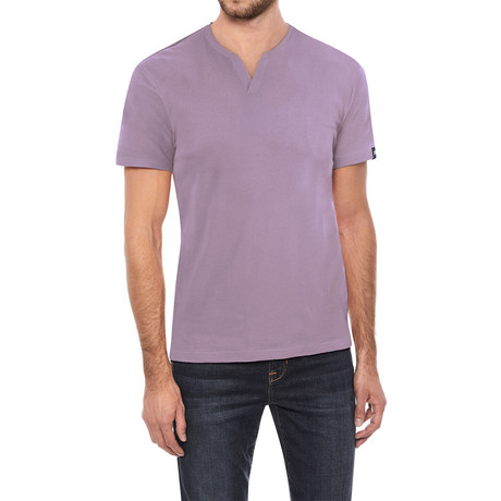V-Notch T-Shirt // Dusty Lavender (S)