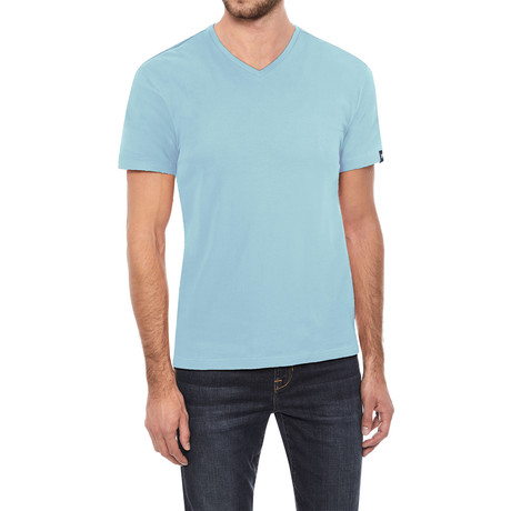V-Neck T-Shirt // Light Blue (S)