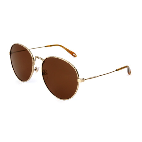 Women's 7089 Sunglasses // Gold + Brown